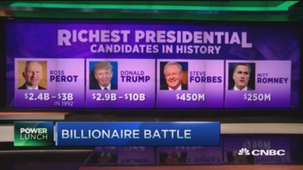 Billionaire battle for the presidency?