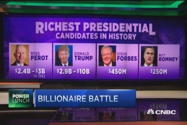Billionaire battle for the presidency?