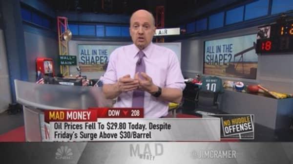 Cramer: Where oil will bottom in 2016