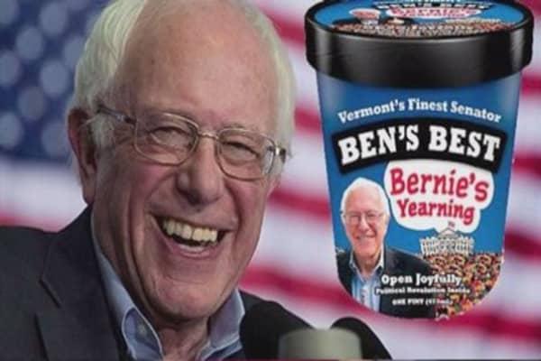 Bernie Sanders gets his own Ben & Jerry's ice cream flavor