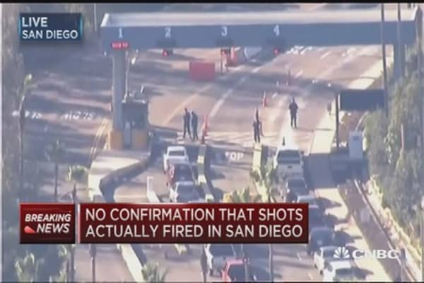No confirmation that shots fired in San Diego