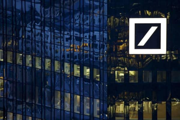 The headquarters of Germany's Deutsche Bank in Frankfurt.