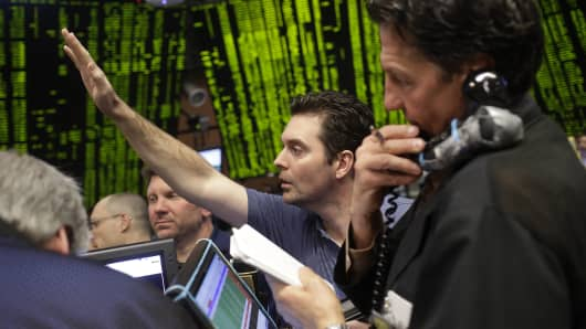 Traders in the Standard & Poor's 500 stock index options pit