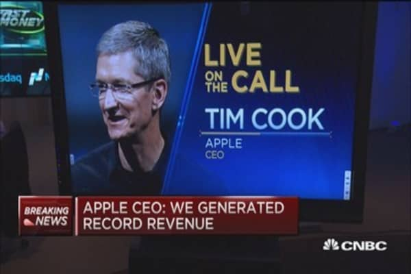 Apple CEO Cook earnings call: Our huge accomplishments