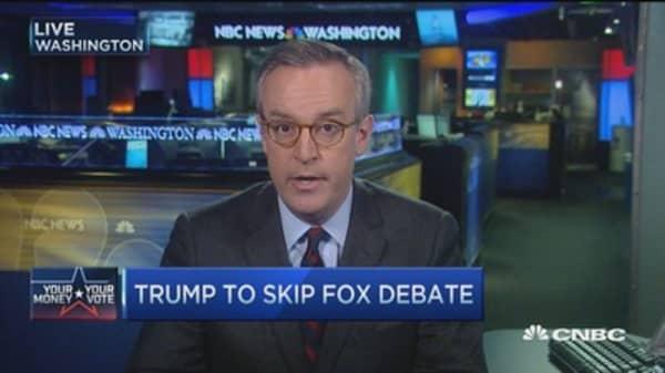 Trump bows out of GOP debate