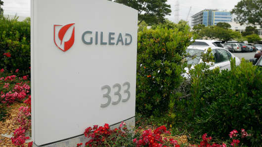 The headquarters of Gilead Sciences in Foster City, Calif.