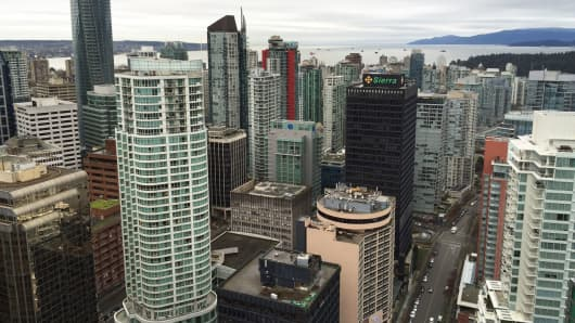 A view of downtown Vancouver, Canada.