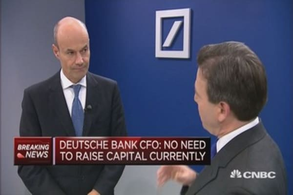 2018 will be Deutsche Bank's first 'clean' year: CFO
