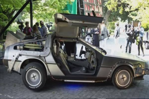 The DeLorean from 'Back to the Future' is back