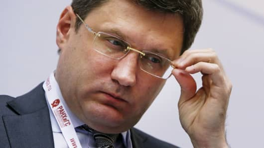 Russian Energy Minister Alexander Novak earlier this month.