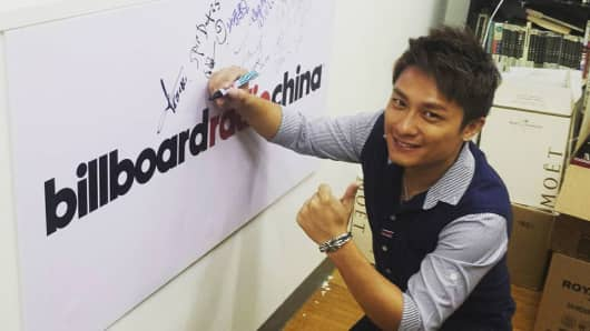 Felix Poon in the Billboard Radio China studio