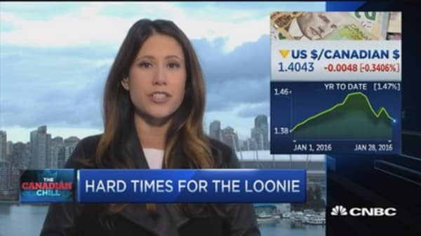 Hard times for the loonie