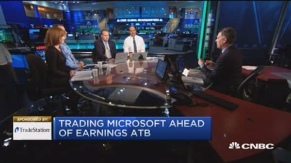 Eye on Microsoft earnings