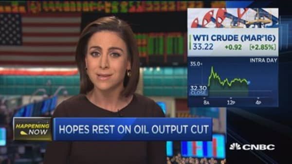 Oil finishes higher