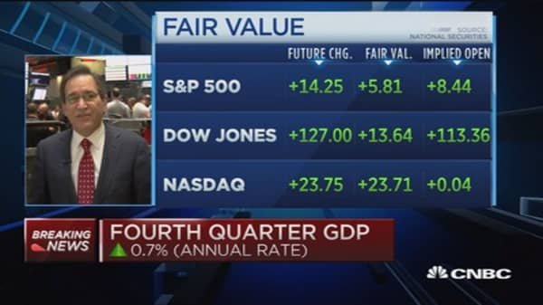 Q4 GDP up 0.7% (annual rate)