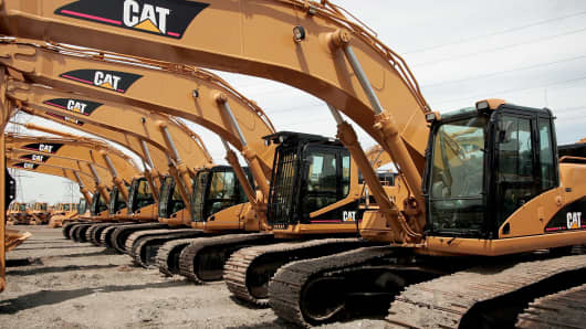 Caterpillar earth moving equipment.