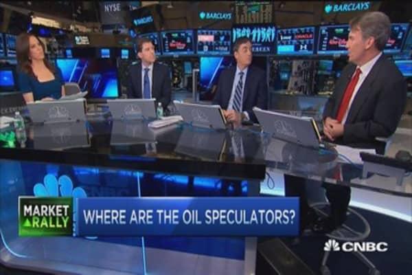 Where are the oil speculators?