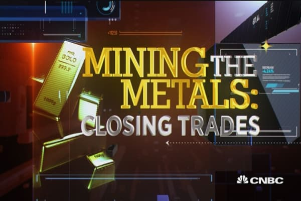 Metals close in the green