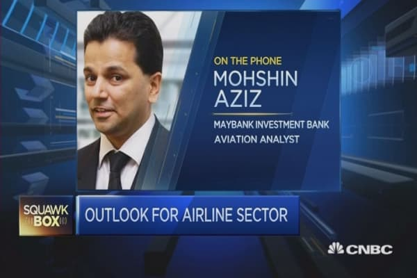 Impact of low oil prices on airline sector