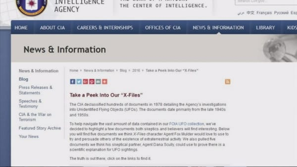 CIA declassifies documents referencing UFOs