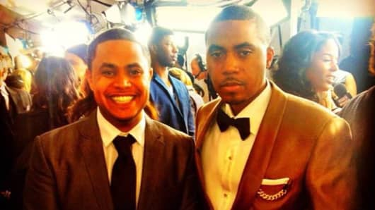 "Anthony Saleh (left) and Nasir ""Nas"" Jones."