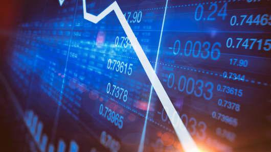 stock board down market