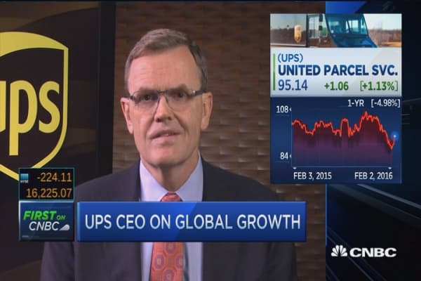 UPS CEO: Record profits internationally