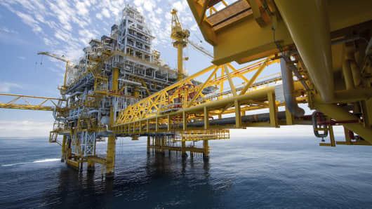 Offshore rig oil and gas exploration