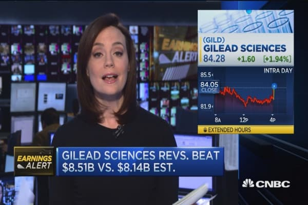 Gilead shares pop 2% on earnings beat