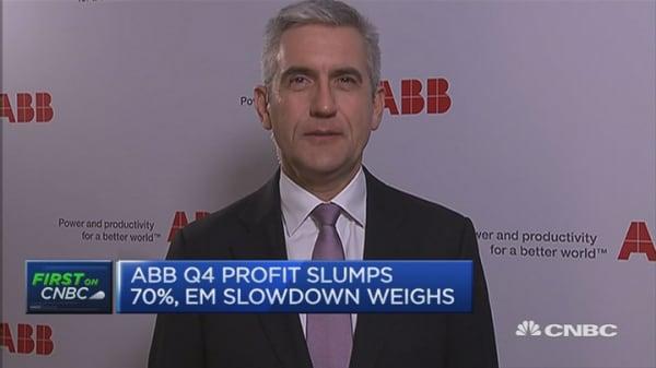 ABB profit drops 70%