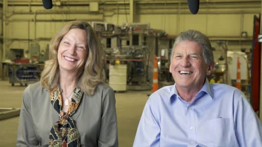 "Denise and Dale ""Mac"" McIntosh of Custom Powder Systems, based in Springfield, Missouri."