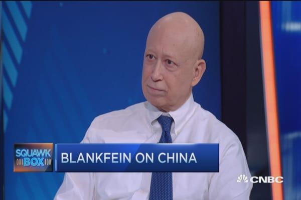 Blankfein on politics