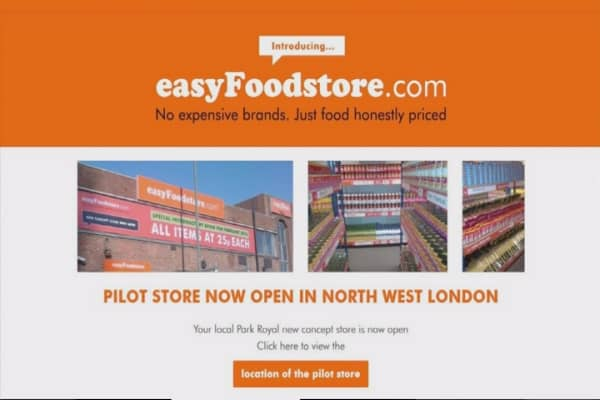 EasyJet founder opens 36-cent easyFoodstore