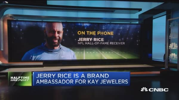 Jerry Rice's Superbowl pick
