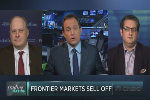 Frontier markets sell off