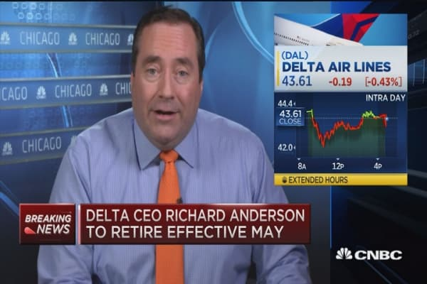 Delta CEO Richard Anderson stepping down