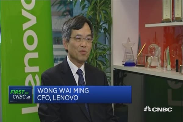 First on CNBC : CFO of Lenovo