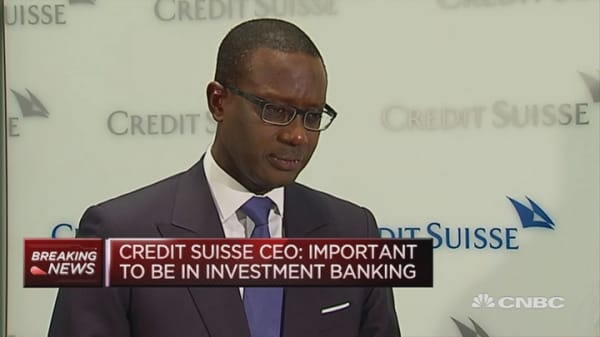 It is a good time for buybacks: Credit Suisse CEO