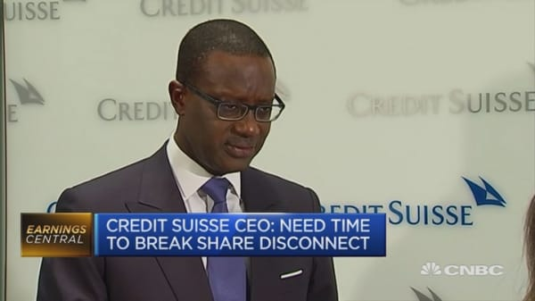 Global economic fears no justified: Credit Suisse CEO