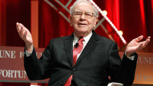 Warren Buffett speaks onstage during Fortune's Most Powerful Women Summit