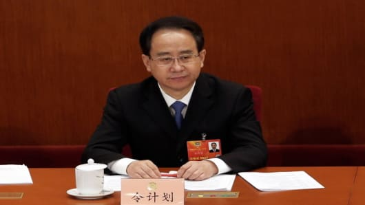 BEIJING, CHINA - MARCH 08: Former secretary of the Central Secretariat of the Communist Party of China Ling Jihua attends the plenary session of the Chinese People's Political Consultative Conference at the Great Hall of the People on March 8, 2013 in Beijing, China.