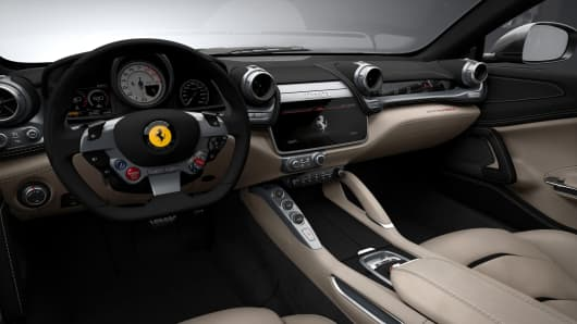 Interior of the new Ferrari GTC4Lusso.