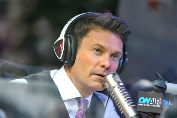 Ryan Seacrest speaks during Ryan Seacrest On-Air Live From Macy's Herald Square