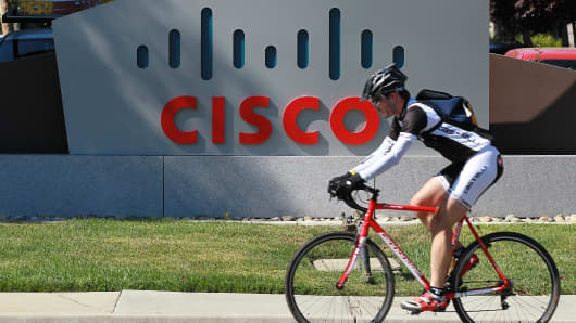 Cisco Systems headquarters on August 10, 2011 in San Jose, California.