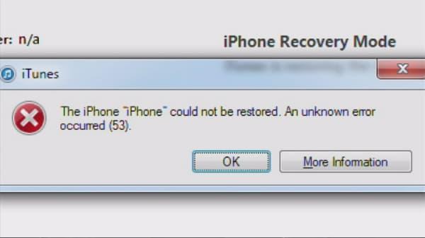 iPhone error 53 permanently bricks phones