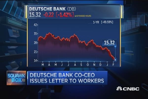 Deutsche Bank Co-CEO issues letter to workers