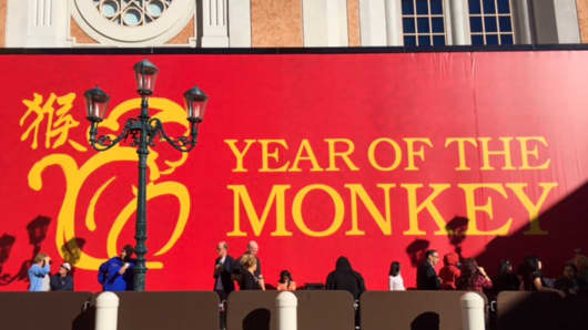 Year of Monkey celebrations kick off in Las Vegas.