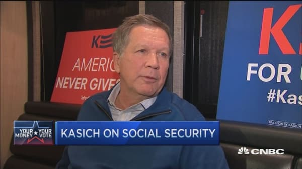 Wealthy should get less in Social Security: Kasich