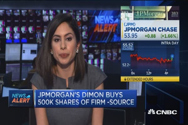 JPMorgan's Dimon buys 500K shares of firm