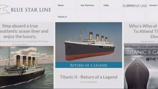 The Titanic II gets ready to sail